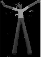 Аэромен 2 ноги. Изготаливаем размер 4-8 метров, за 4 дня. www.НадувныеФигуры.РФ Иркутск